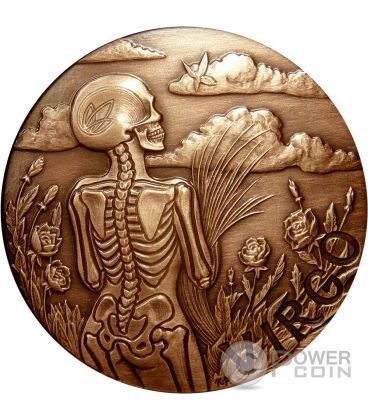 VIRGO Memento Mori Zodiac Skull Horoscope Copper Coin 2015