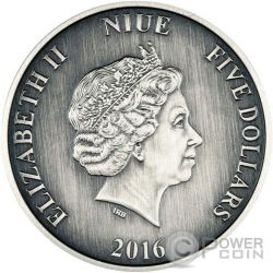 CHARLES DARWIN Journeys Of Discovery 2 Oz Moneda Plata 5$ Niue 2016