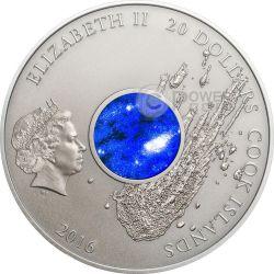 METEORITE CAMPO DEL CIELO Pinguen Chaco Austral Argentina Crater 3 Oz Silver Coin 20$ Cook Islands 2016