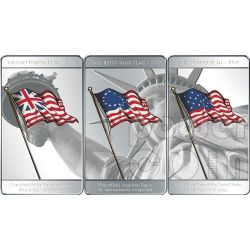 BANDIERE FLAGS OF AMERICA Set 3 Monete Argento 1$ Mesa Grande 2010