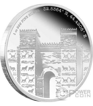 BABYLON Mesopotamia Forgotten Cities 1 Oz Silver Coin 2$ Niue 2016