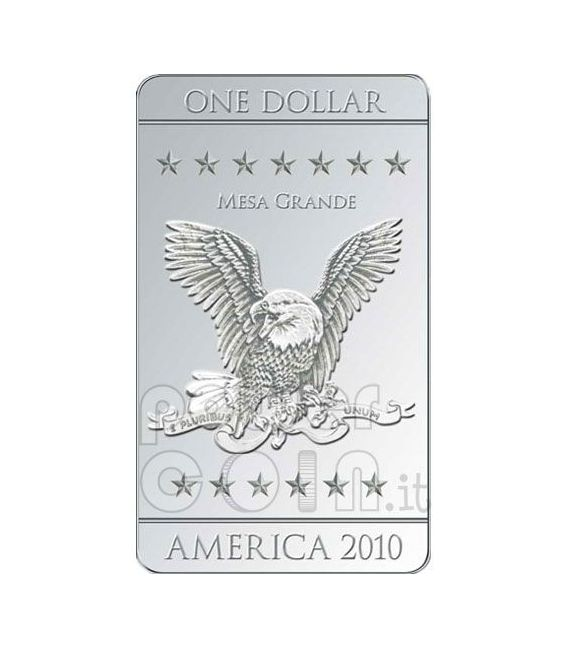 FLAGS OF AMERICA 3 Moneda Plata Set 1$ Mesa Grande 2010