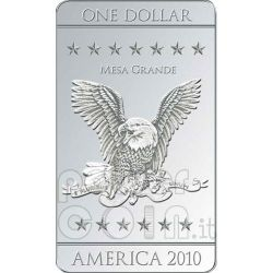 FLAGS OF AMERICA 3 Moneda Plata Set 1$ Mesa Grande 2010