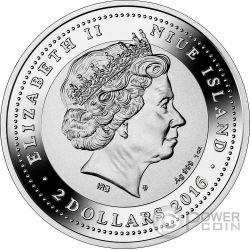 PONTE DI RIALTO SOS Venice Canaletto 1 Oz Серебро Монета 2$ Ниуэ 2016