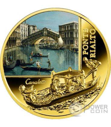 PONTE DI RIALTO SOS Venice Canaletto Gold Coin 50$ Niue 2016