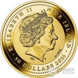 PONTE DI RIALTO SOS Venice Canaletto Moneda Oro 50$ Niue 2016