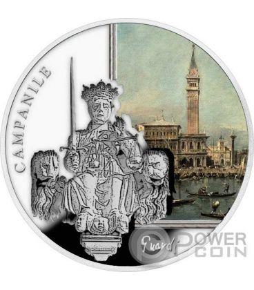 ST MARK CAMPANILE San Marco SOS Venice 1 Oz Moneta Argento 2$ Niue 2016