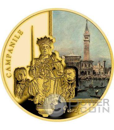 ST MARK CAMPANILE San Marco SOS Venice Moneta Oro 50$ Niue 2016