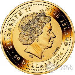 ST MARK CAMPANILE SOS Venice Gold Münze 50$ Niue 2016