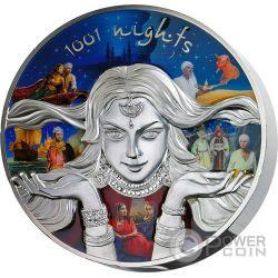 1001 NIGHTS Scheherazade Shahrazad Fairy Tales 1 Kg Kilo Silver Coin 150$ Niue Island 2016