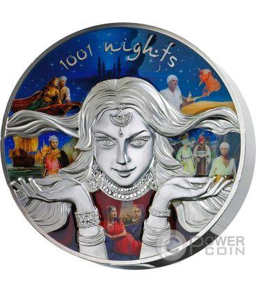 1001 NIGHTS Scheherazade Sherazad Fairy Tales Mille Una Notte 1 Kg Kilo Moneta Argento 150$ Niue 2016