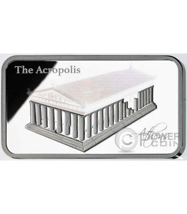 ACROPOLIS Acropoli Ologramma Atene Partenone Moneta Argento 2$ Isole Salomone 2016