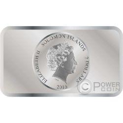 ACROPOLIS Hologram Athens Parthenon Серебро Монета 2$ Соломонские Острова 2016