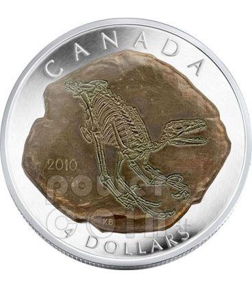DINOSAUR DROMAEOSAURUS Silver Coin 4$ Canada 2010