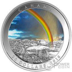 RADIANT RAINBOW Weather Phenomenon Silver Coin 20$ Canada 2016