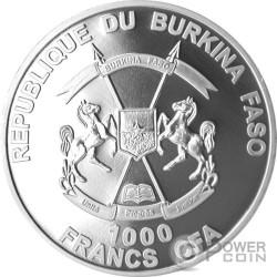 NEW TESTAMENT Nano Bible II Chip 1 Oz Серебро Монета 1000 Франков Буркина-Фасо 2016
