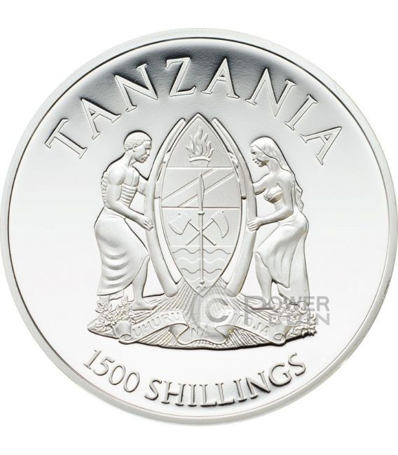 BLACK PANTHER Rare Wildlife 2 Oz Silber Münze 1500 Shillings Tanzania 2016