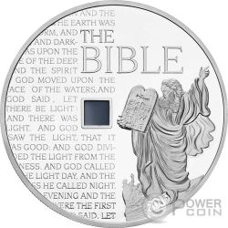 MOSES OLD TESTAMENT Nano Bible I Chip 1 Oz Moneda Plata 1000 Francs Burkina Faso 2015