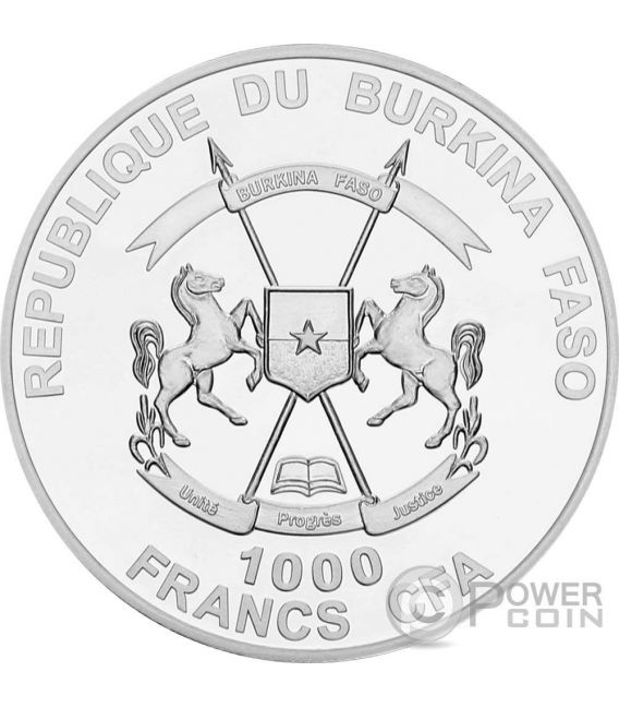 MOSES OLD TESTAMENT Nano Bible I Chip 1 Oz Silver Coin 1000 Francs Burkina Faso 2015