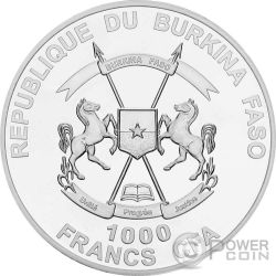 MOSES OLD TESTAMENT Nano Bible I Chip 1 Oz Silber Münze 1000 Francs Burkina Faso 2015