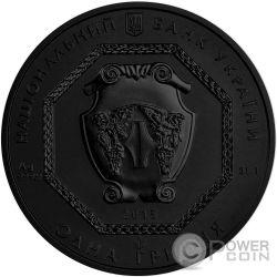 ARCHANGEL MICHAEL Shade of Enigma Black Ruthenium 1 Oz Moneda Plata 1 Hryvnia Ukraine 2015