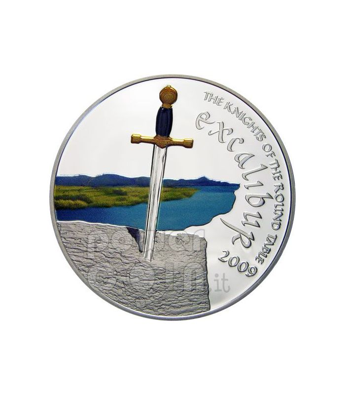 Knights Of The Round Table Swords.Excalibur Sword Knights Of Round Table Silver Coin 5 Cook Islands 2009