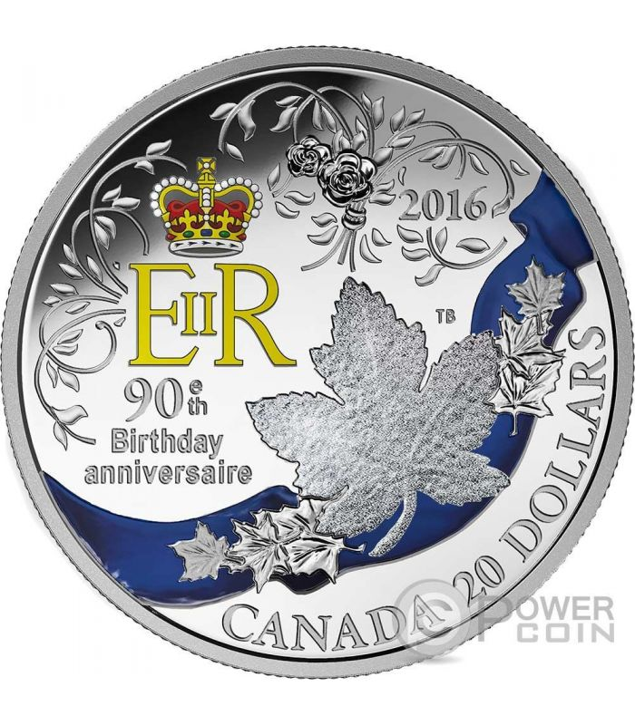 Queen Elizabeth Ii 90th Birthday Anniversaire Silver Coin