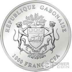 WALKING LIBERTY Smick Ounce Edition Moneda Plata 1000 Francs Gabon 2016