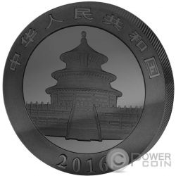 GOLDEN ENIGMA Panda Black Ruthenium Silver Coin 10 Yuan China 2016