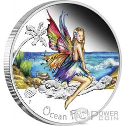 OCEAN FAIRY Fata Oceano Moneta Argento 50 Centesimi Tuvalu 2016