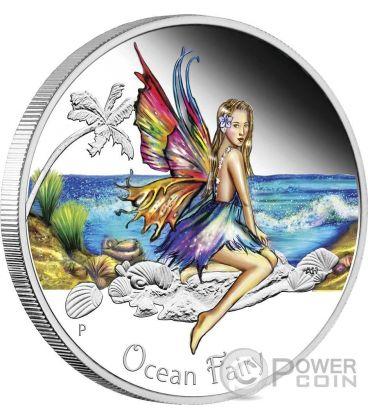 OCEAN FAIRY Silver Coin 50 Cents Tuvalu 2016