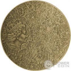 SOLAR SYSTEM MERCURY NWA 8409 Meteorite Moneda Plata 1$ Niue 2016