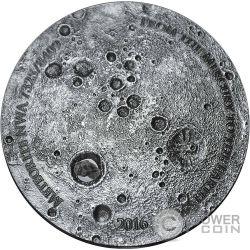 MERCURY NWA 7325/8409 Meteorite 5 Oz Moneda Plata 5000 Francs Mali 2016