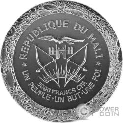 MERCURY NWA 7325/8409 Meteorite 5 Oz Silver Coin 5000 Francs Mali 2016
