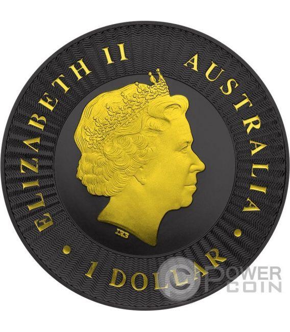 CANGURO AUSTRALIANO Gold Shadows 1 Oz Moneta Argento 1$ Australia 2016