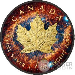 HELIX NEBULA Maple Leaf Space Collection 1 Oz Moneta Argento 5$ Canada 2016