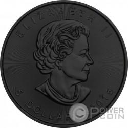 SOLAR FLARE Maple Leaf Space Collection 1 Oz Moneda Plata 5$ Canada 2015
