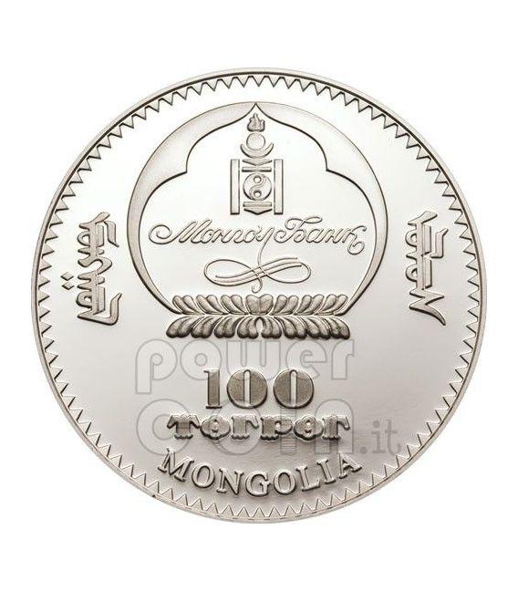 SETTE MERAVIGLIE MONDO MODERNO Set 7 Monete Argento 1$ Mongolia 2008