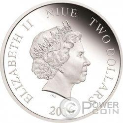 ALICE IN WONDERLAND 65th Anniversary 1 Oz Silber Münze 2$ Niue 2016
