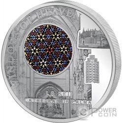 LA SEU Cathedral Palma Windows Of Heaven Серебро Монета 10$ Острова Кука 2016