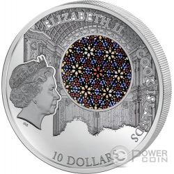 LA SEU Cathedral Palma Windows Of Heaven Silver Coin 10$ Cook Islands 2016