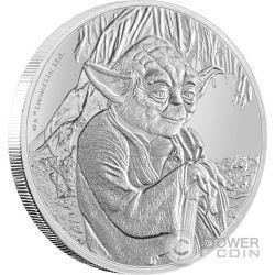 YODA Star Wars Classic 1 Oz Silver Coin 2$ Niue 2016