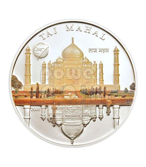 NEW SEVEN WONDERS Modern 7 Moneda Plata Set 1$ Mongolia 2008