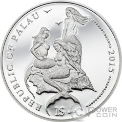 WHITETAIL DAMSELFISH Marine Life Protection Серебро Plated Монета 1$ Палау 2015