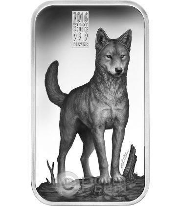 DINGO Australian Apex Predators 1 Oz Moneta Argento 1$ Cook Islands 2016