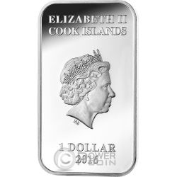 DINGO Australian Apex Predators 1 Oz Silver Coin 1$ Cook Islands 2016
