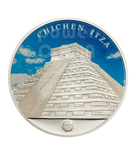 NEW SEVEN WONDERS Modern 7 Silver Coin Set 1$ Mongolia 2008