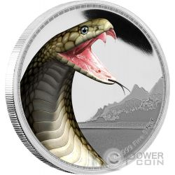 COBRA REALE Kings of the Continents Re dei Continenti 1 Oz Moneta Argento 2$ Niue 2016