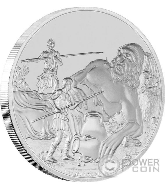 CYCLOPES Creatures of Greek Mythology 1 Oz Moneda Plata 2$ Niue 2016