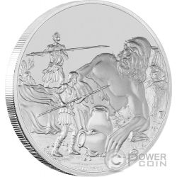 CYCLOPES Creatures of Greek Mythology 1 Oz Silver Coin 2$ Niue 2016